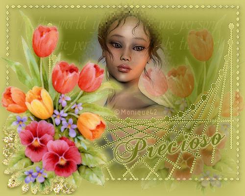 Lindo Duende Navideño Dama_flores_precioso