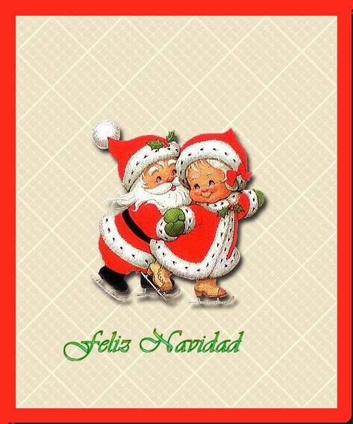 Tarjeta de navidad abuelos modernos gabitos - Dibujos de postales de navidad ...
