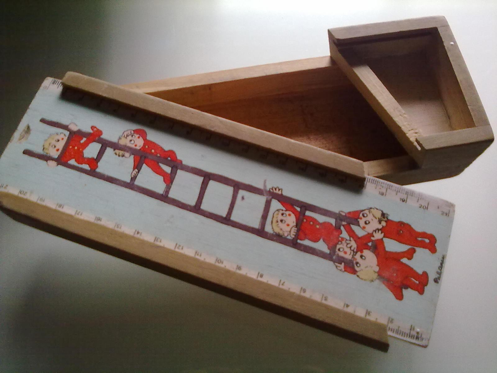 Plumier madera 60 70 juguetes antiguos gabitos - Juguetes antiguos de madera ...